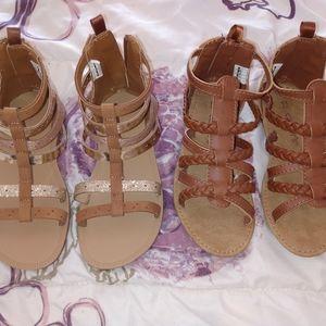Girls sandals lot